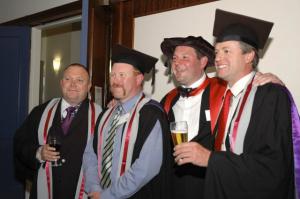 Graduating Class 2008 from left to right: Rob Jones, John Tovey Greg Chawynski, & Michael Fulton.